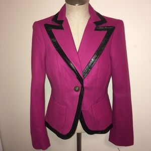 bebe  Violetta Jacket with Black Trim